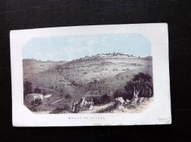 Thomson Holy Land 1863 Antique Print. Mount of Olives